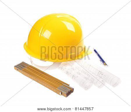 Yellow helmet brushproject drawings