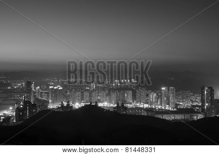The Night Cityscape And Skyline Of Dalian City.