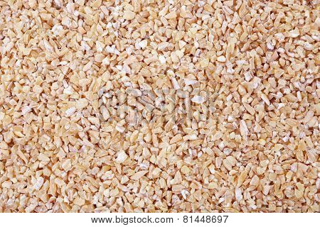 Wheat groats as background