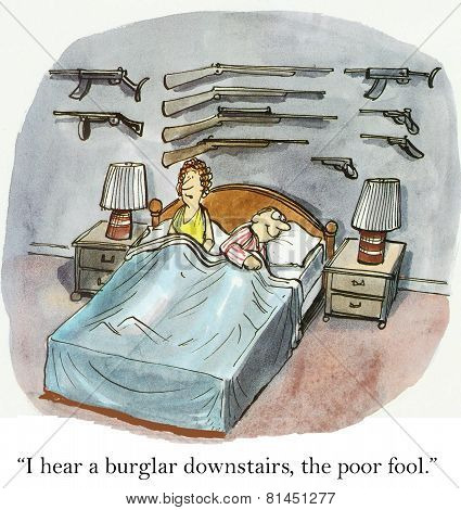 Burglar Downstairs
