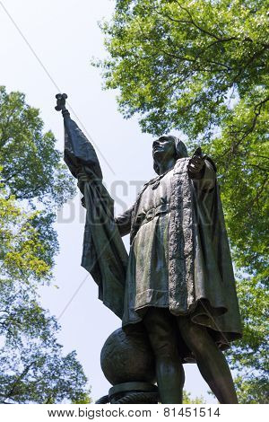 Central Park Christopher Columbus statue Manhattan New York US