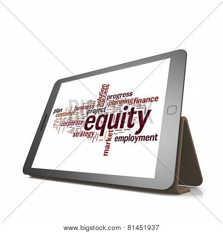 Equity Word Cloud On Tablet