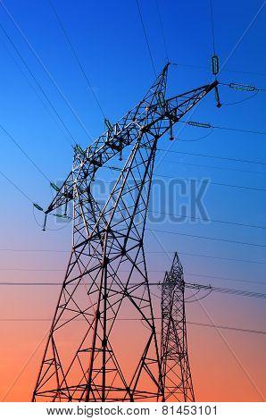 high voltage pylons