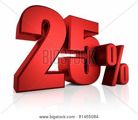 Red 25 Percent
