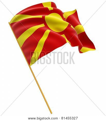 3D Macedonian flag