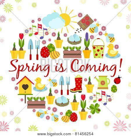 round spring background