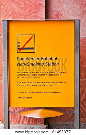 Non Smoking Sign In Public Area