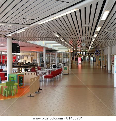 Airport Interior In Sweden