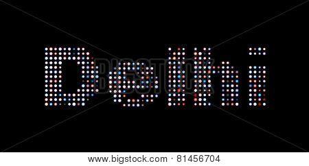 Delhi Led Text