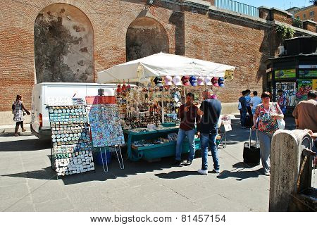 Rome City Life. View Of Rome City Sellers On June 1, 2014