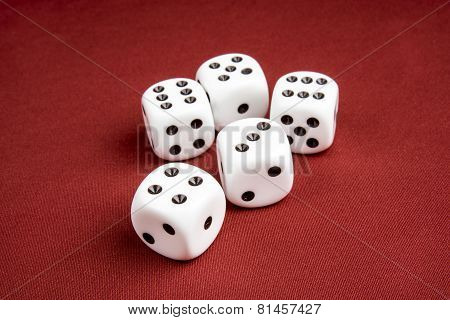 Macro Of Dice With Shallow Depth Of Field