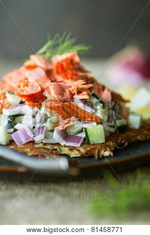 Rosti With Salmon