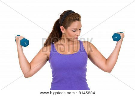 Woman Dumbbell Training
