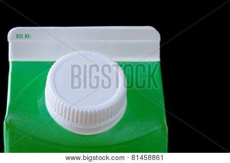 Top of cardboard milk or drink carton