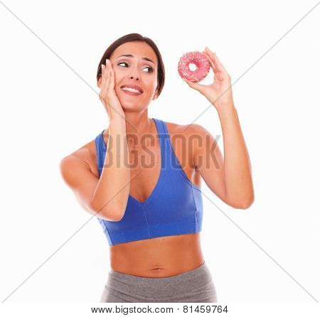 Fit Adult Woman Choosing Sugary Food