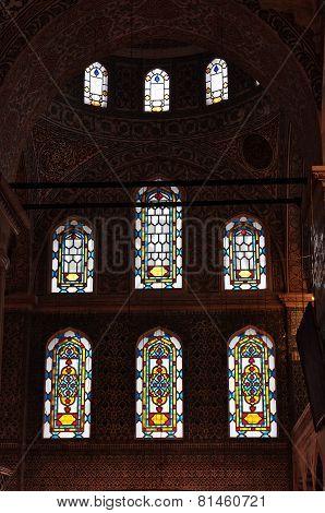 Interior of Blue Mosque in Istanbul, Sultanahmet Mosque