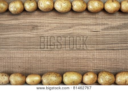 Beautiful Frame With Fresh Potatoes.