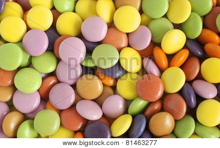Sugar Coated Candy Or Sweets