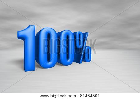 100% Blue With Clipping Path