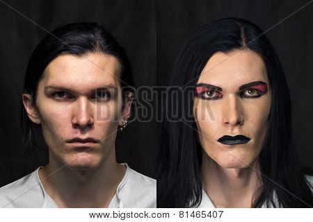 Photo of man's make up