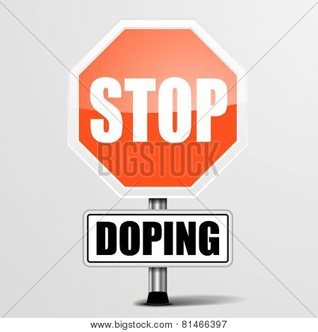 detailed illustration of a red stop Doping sign, eps10 vector