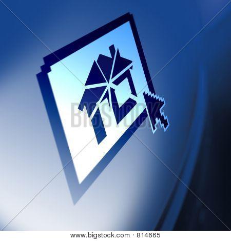 House Price Crash On Computer Screen