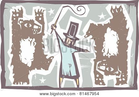 Ringmaster And Bears