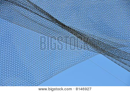 Curved Shapes on Blue