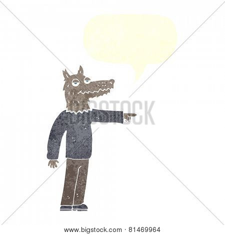 cartoon pointing werewolf