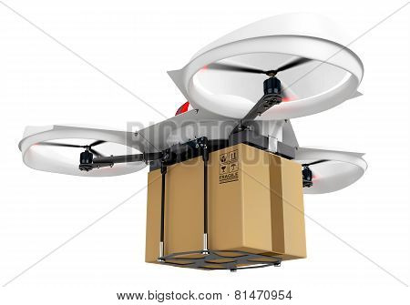 3D Delivery Drone With A Package