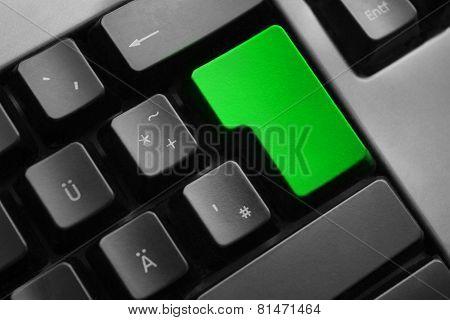 grey keyboard empty green enter button