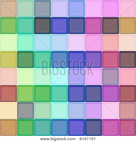 3D Colorful Blocks Pattern