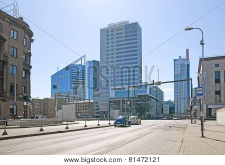 Tallinn. Estonia. Bank SEB and City Plaza building