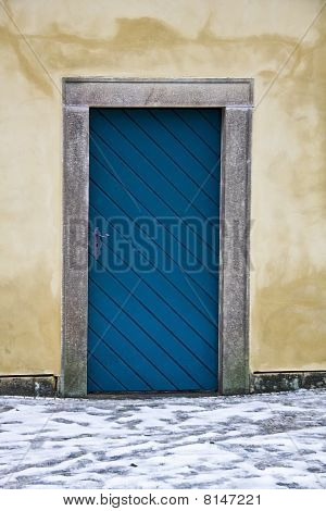 Old Door Closeup In Prague