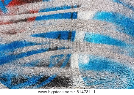 Abstract Graffiti On Concrete Wall