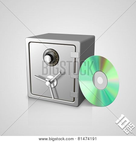 Safe with disk