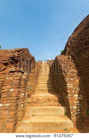 Ancient Staircase In Sigiriya, Sri Lanka
