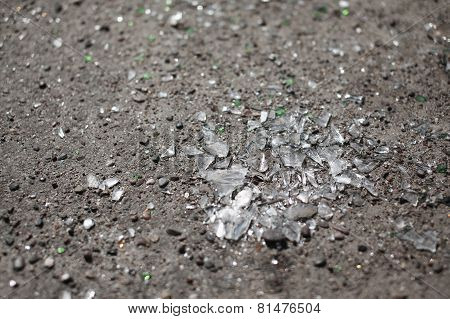 Broken Glass On The Ground