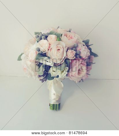 Soft Vintage Photo Gentle Wedding Bouquet