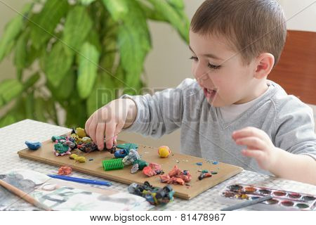 Boy With Plasticine