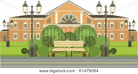 Benches For Rest In The Green Zone