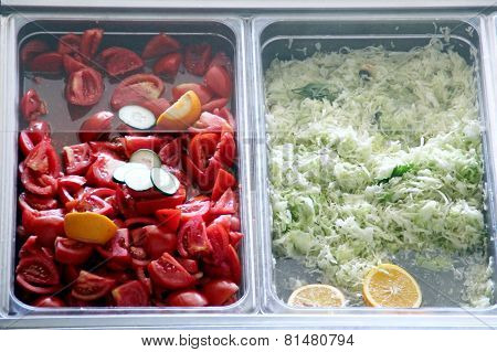 Vegetables on a buffet