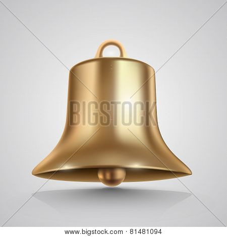 Golden bell isolated on white