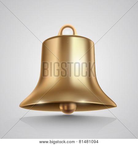 Golden bell isolated on white