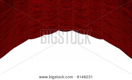 Red Curtain With Beautiful Pattern