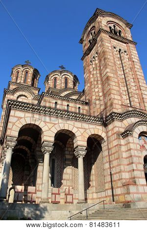 Beautiful View Of Old Orthodox Church In Belgrade