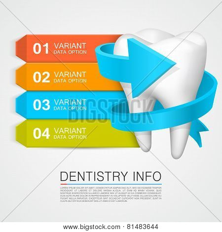 Dentistry info. Vector Illustration