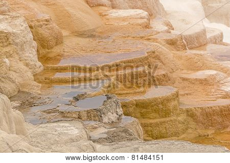 Colorful Limestone Terraces
