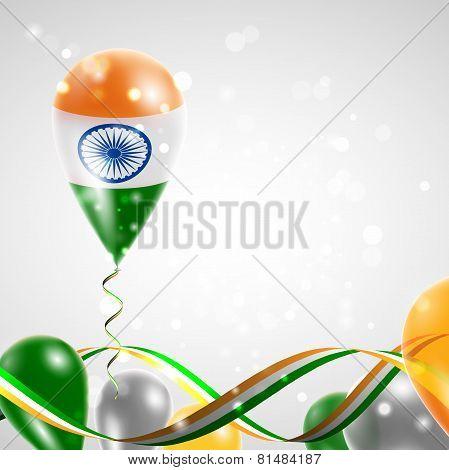 Flag of India on balloon