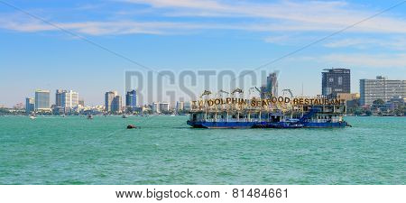 Floating Restaurant At Pattaya Bay